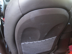 Hyundai Tucson plastic back seat with scratches