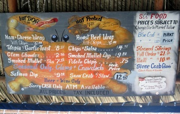 The Freezer Tiki Bar Menu